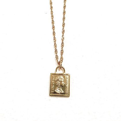 שרשרת אליזבת ציפוי זהב