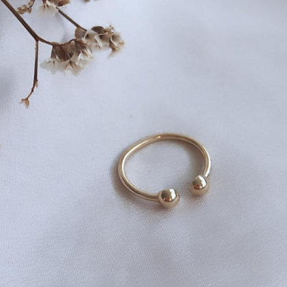 טבעת פירסינג זהב