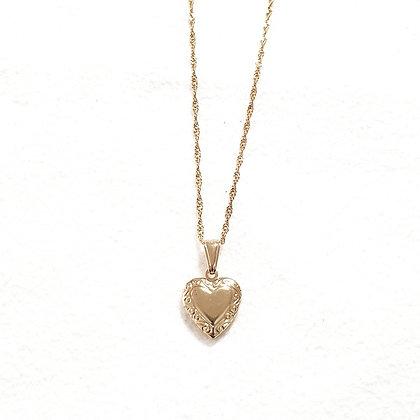 שרשרת ציפוי זהב לב נפתח