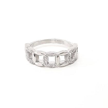 טבעת כסף חוליות
