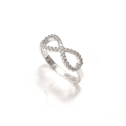טבעת אין סוף משובץ