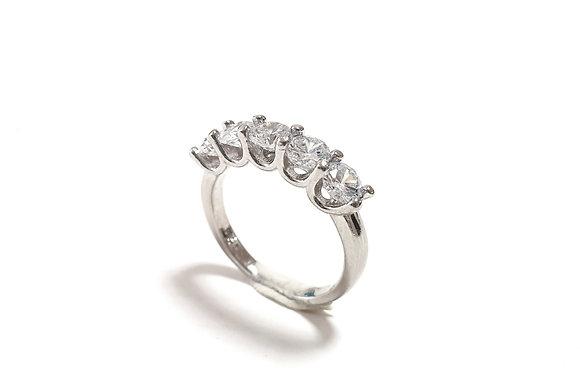 טבעת כסףח מש אבנים