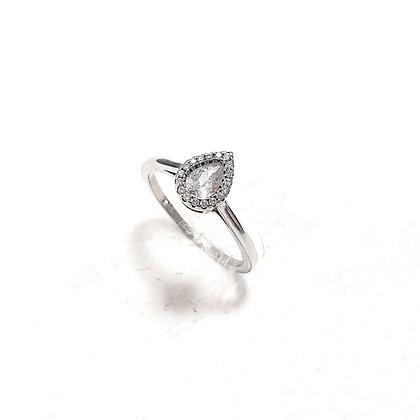 טבעת כסף טיפה קטנה