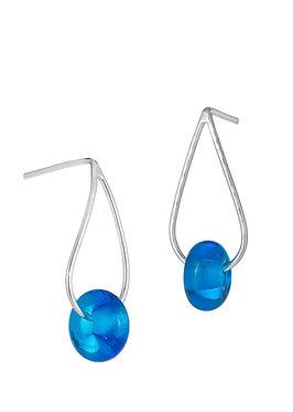 Bead Teardrop Stud Earrings