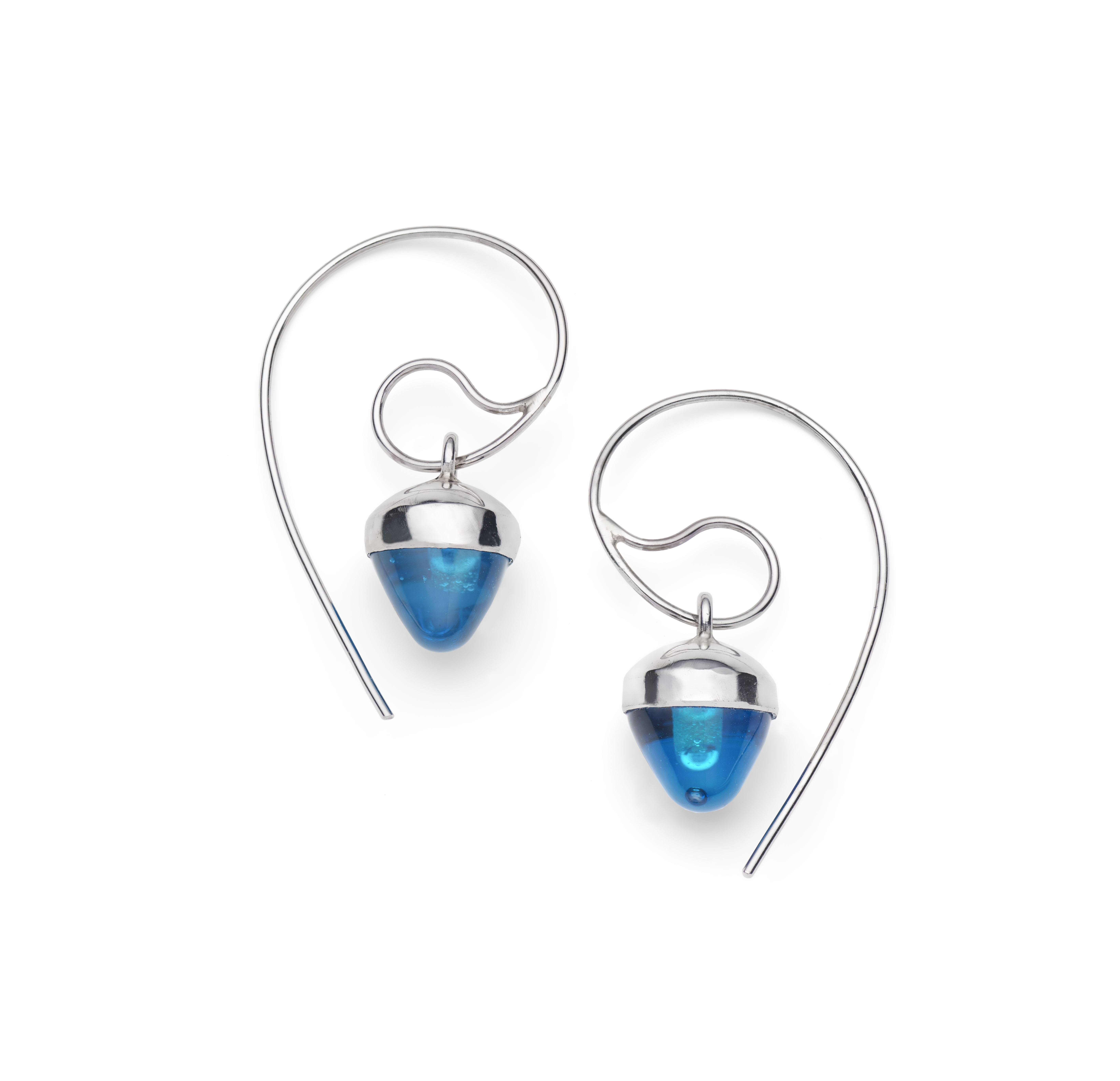 Pulsar Blue Glass Earrings