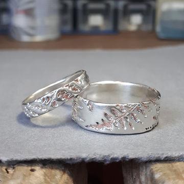 Silver Fern Wedding Rings North Wales El
