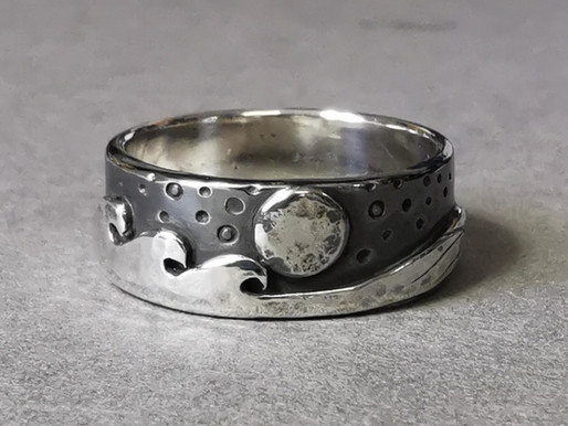 Nature Inspired Jewellery - How I Made This Silver Landscape Ring