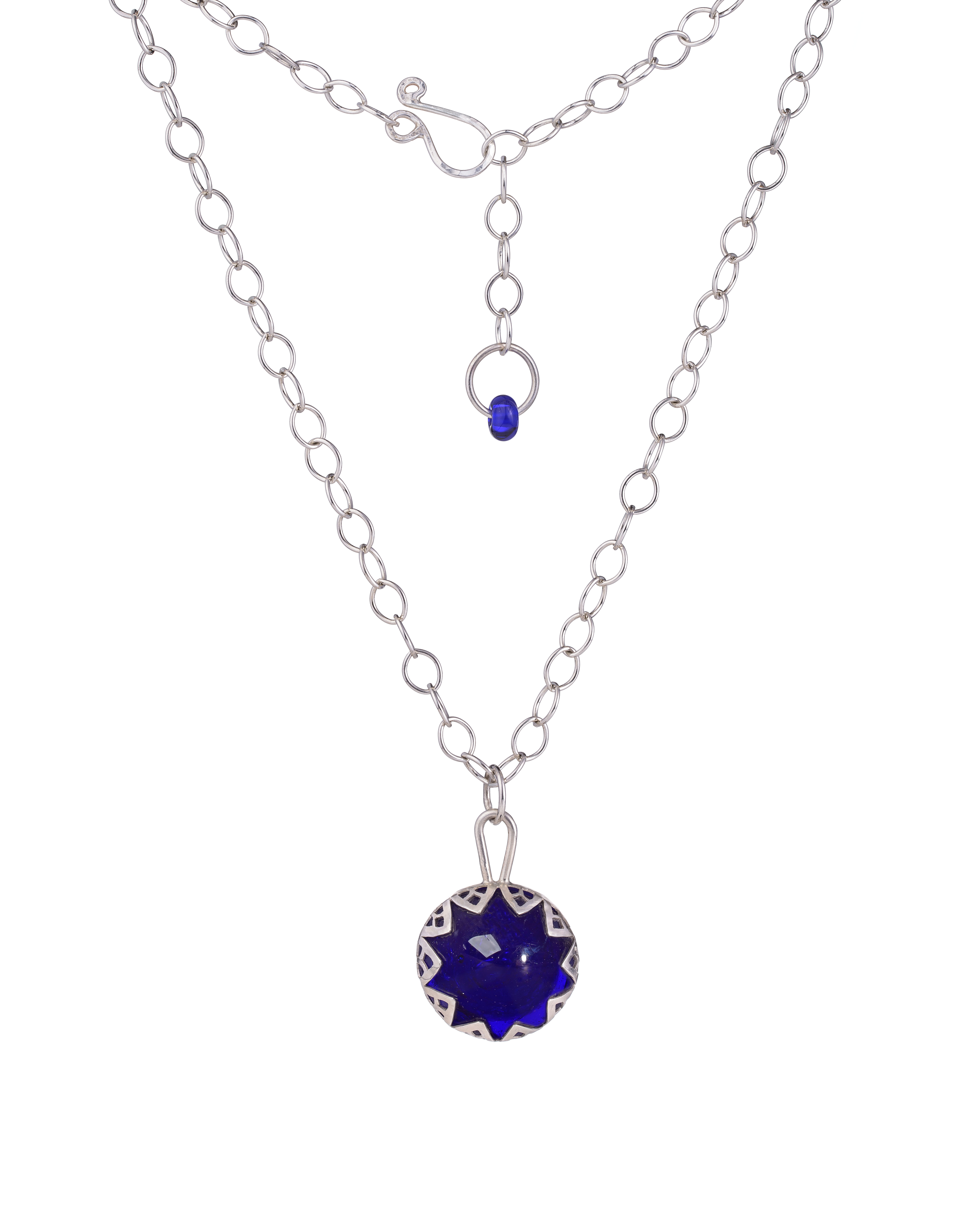 Cobalt Blue Statement Pendant