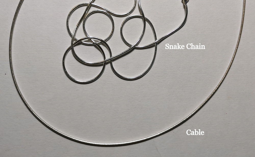 Ellen Thorpe Sterling Silver Snake Chain and Sterling Silver Cable