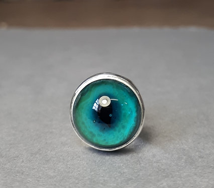 Glass Eye Brooch Pin