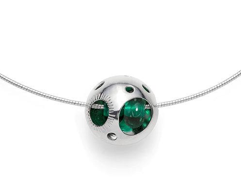 Teal Green Pod Pendant