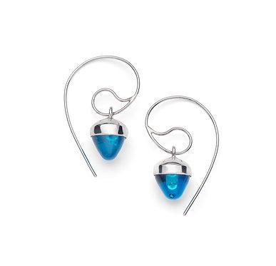 Statement Glass Drop Earrings