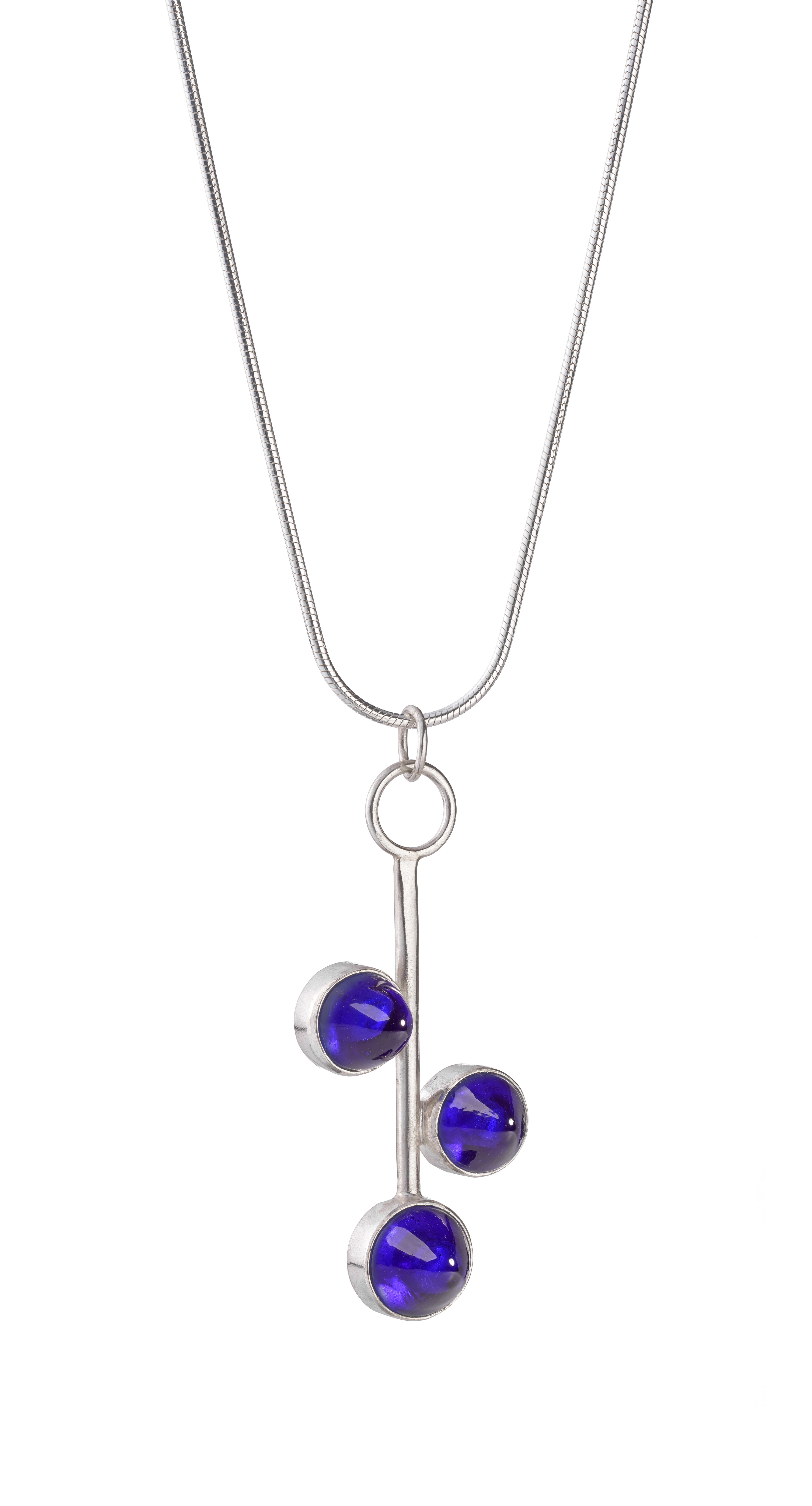 Cobalt blue Glass Pendant