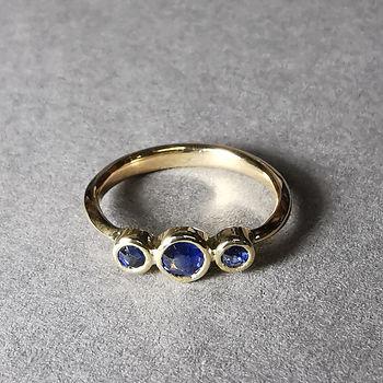 Handmade sapphire engagement ring North