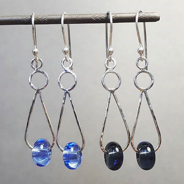Bead Dangly Drop Earrings