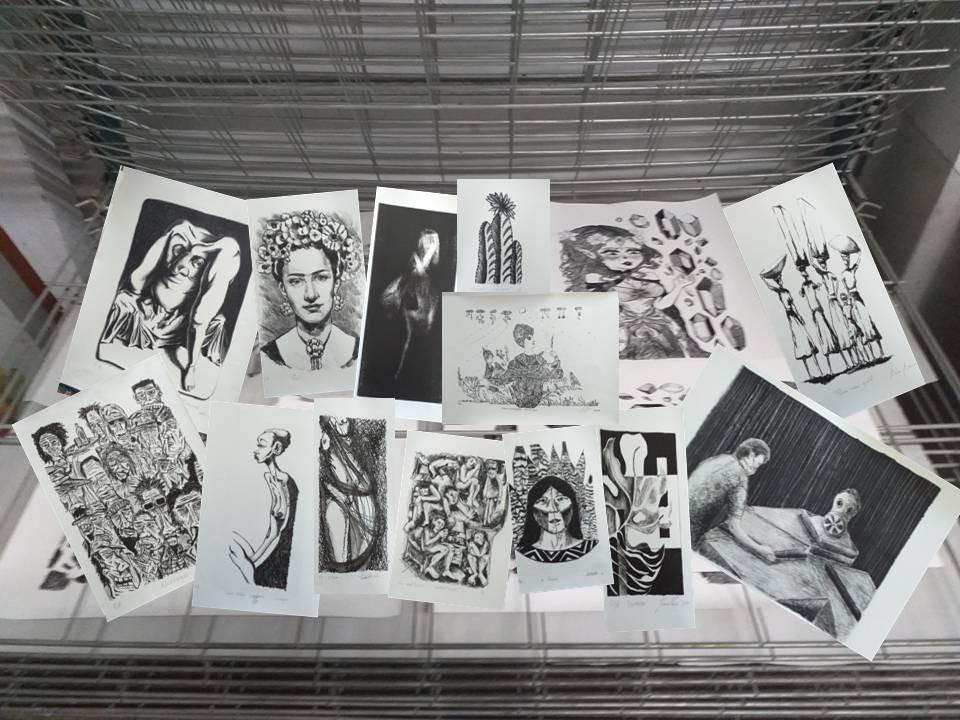 Museu da Gravura recebe duas exposições 'Novos Talentos da Litogravura'