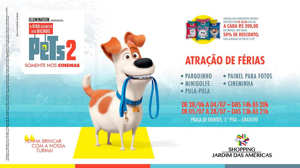 Pets 2 é a atração de férias no Shopping Jardim das Américas
