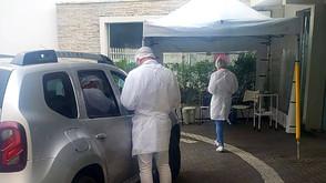 Drive Thru para diagnóstico de COVID-19 no Hospital São Vicente