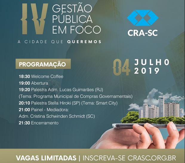 Florianópolis recebe 4ª edição do Gestão Pública em Foco