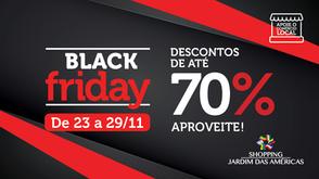 Black Friday no Shopping Jardim das Américas terá Roleta da Sorte e descontos de até 70%