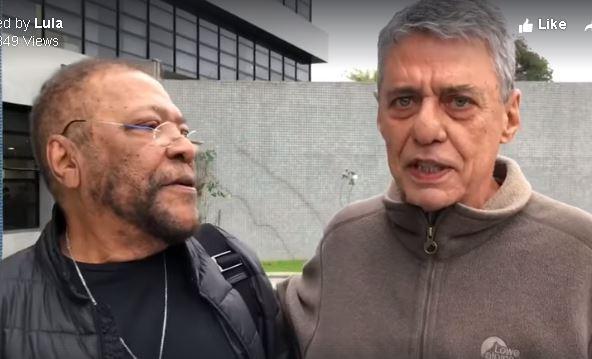 Chico e Martinho visitam Lula em Curitiba