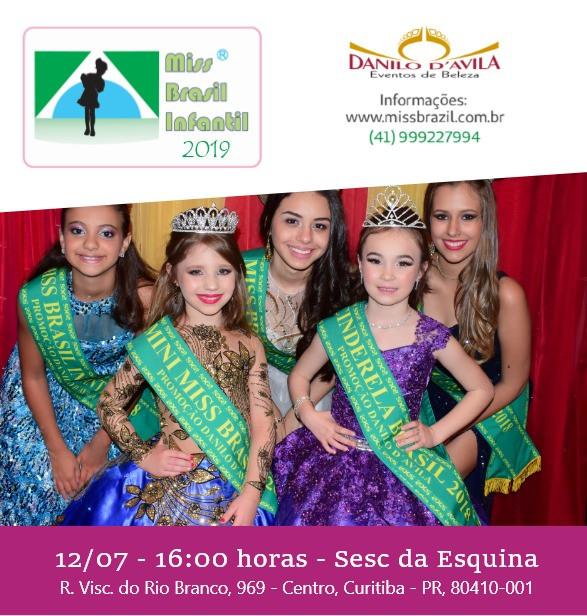 Miss Brasil Infantil 2019 no Teatro Sesc da Esquina