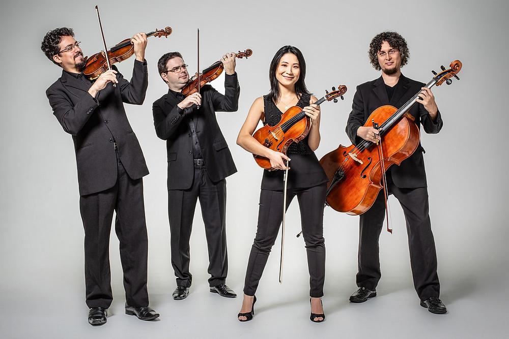 Quarteto de cordas fará apresentações gratuitas