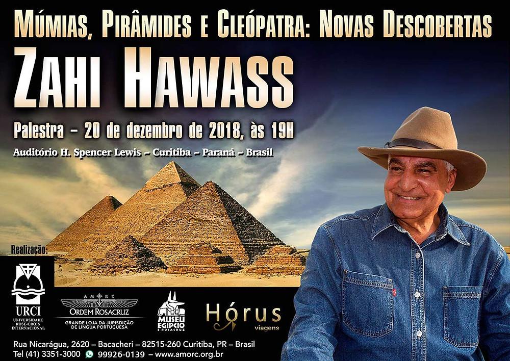 Palestra com o arqueólogo e egiptólogo Zahi Hawass