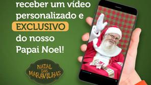 Papai Noel do Shopping Jardim das Américas envia vídeo personalizado