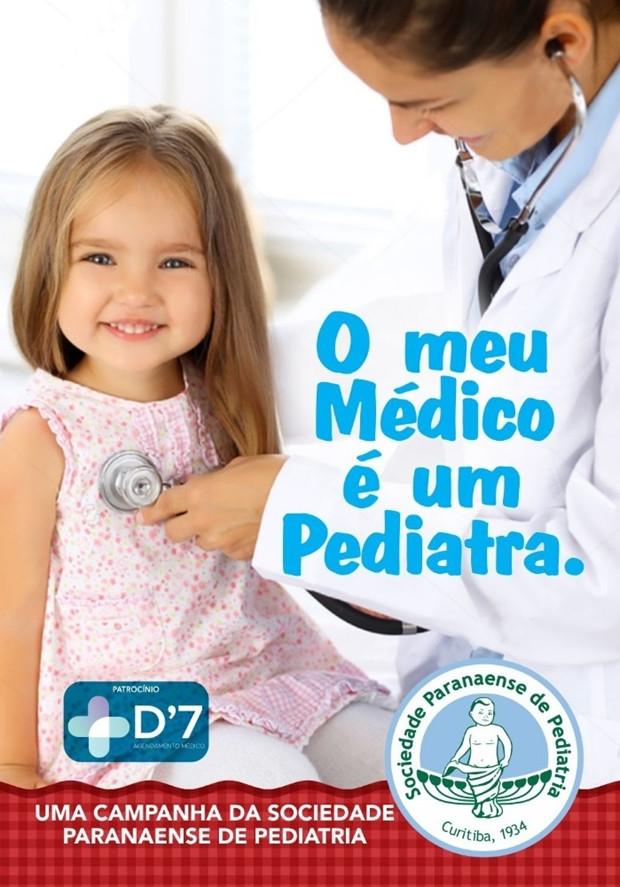 Pediatras paranaenses lançam a campanha Meu Médico é Um Pediatra