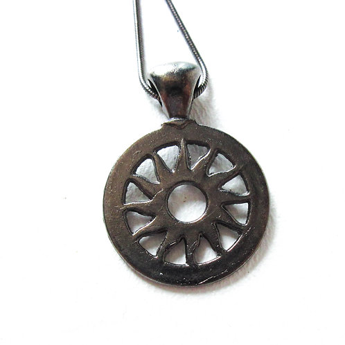 Gunmetal Sunburst Necklace