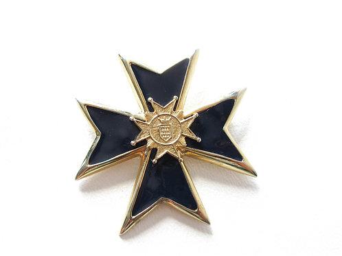 Vintage Blue Enamel Maltese Cross