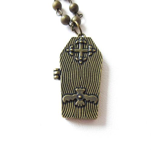 Coffin Statement Necklace