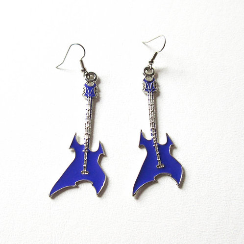Light Purple Guitar Earrings