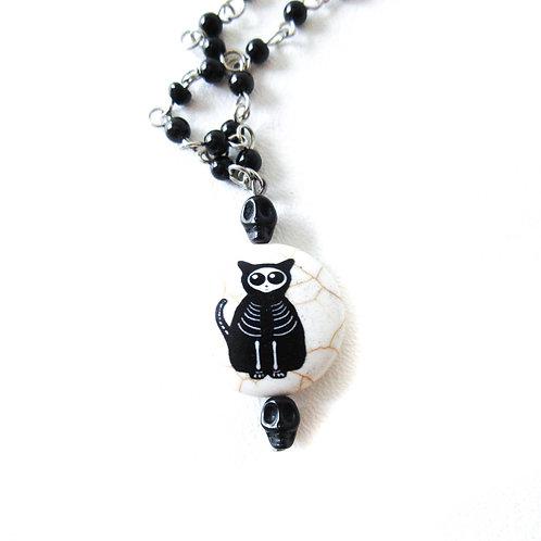 Skeleton Cat Necklace
