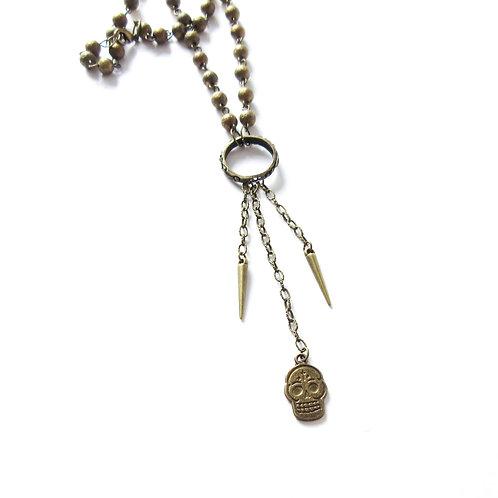 Skull ans Pike Bondage Necklace