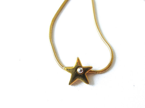 Biagi Two Tone Star Necklace