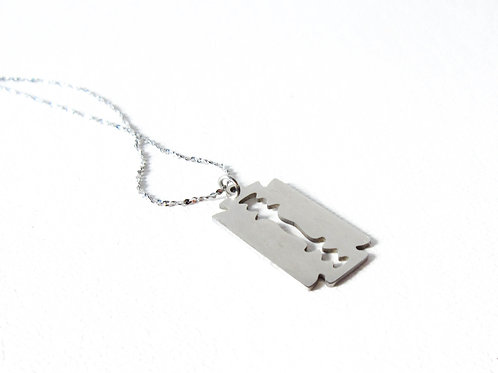 Dainty Stainless Steel Razor Blade Necklace