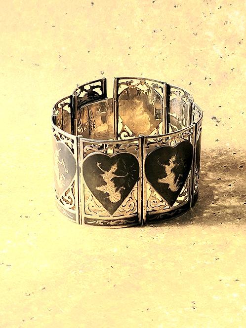 Vintage Siam Silver Panel Bracelet