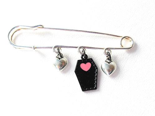 Heart Coffin Kilt Pin