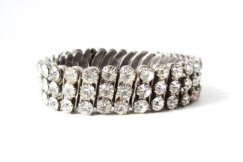 Vintage Rhinestone Stretch Bracelet
