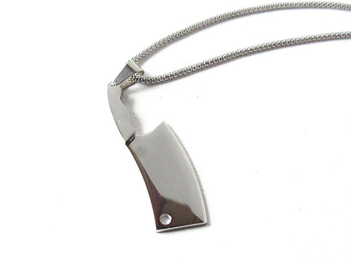 Stainless Steel Cleaver Necklace