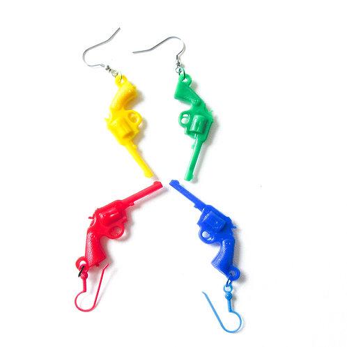 Plastic Revolver Earrings