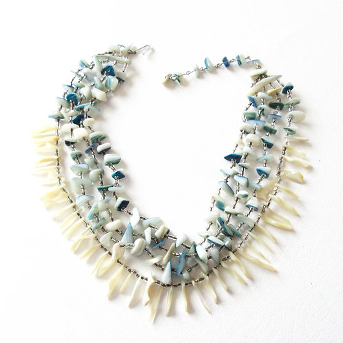 Vintage Shell Bib Necklace
