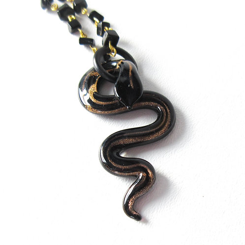 Glass Snake Necklace