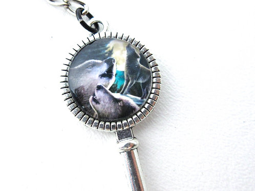 Wolf Key Keychain