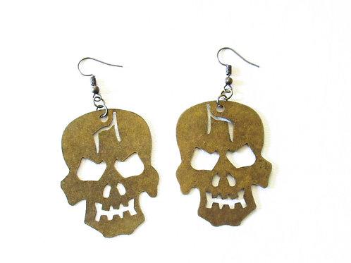 Big Angry Skull Earrings