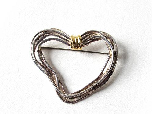 Two Tone Heart Pin Premier Designs
