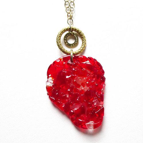Antica Murana Red Glass Necklace