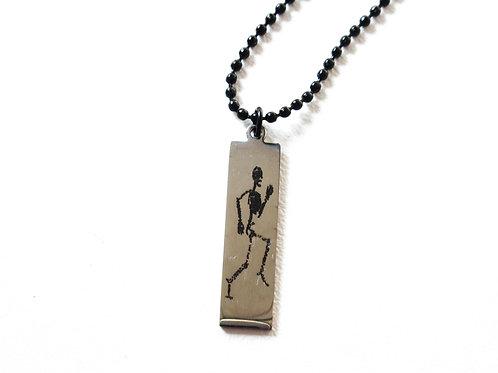 Running Skeleton Necklace